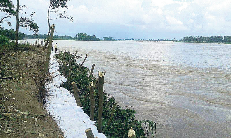 Locals terrified as Karnali River erodes its bank