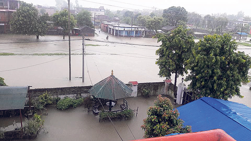 Floodwaters with sewage inundate Tikapur