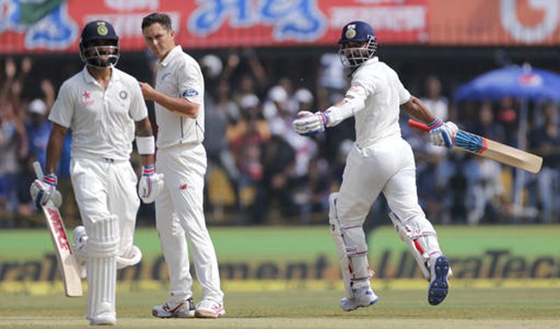 Kohli and Rahane lead India's onslaught against New Zealand