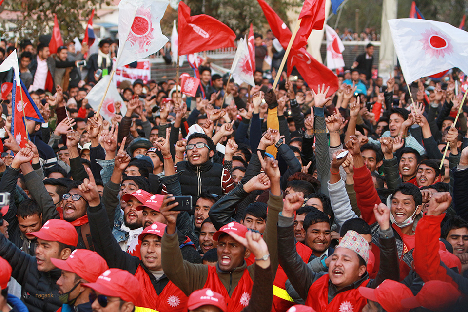 In pictures: Oppon parties including CPN-UML hit the streets in show of strength
