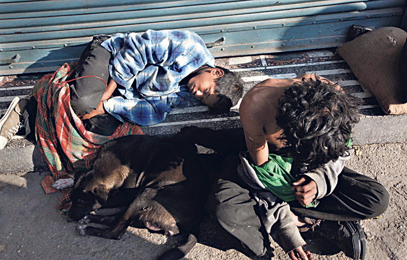 Street children vulnerable to addiction
