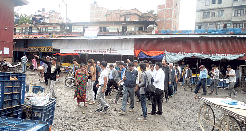 Vegetable traders protest market inspection - My Republica
