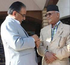 PM Oli, Dahal discuss national consensus government