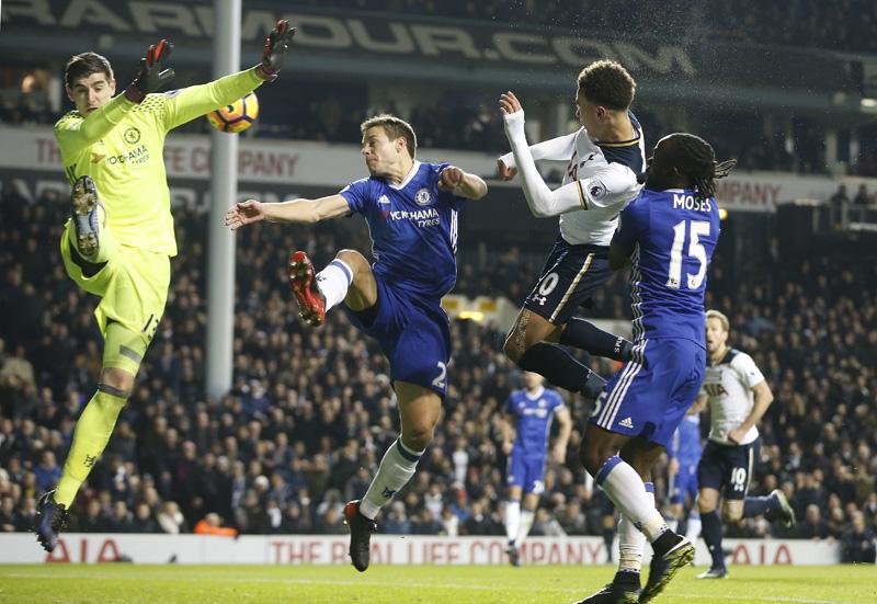 Tottenham beats Chelsea 2-0 to end 13-match EPL winning run