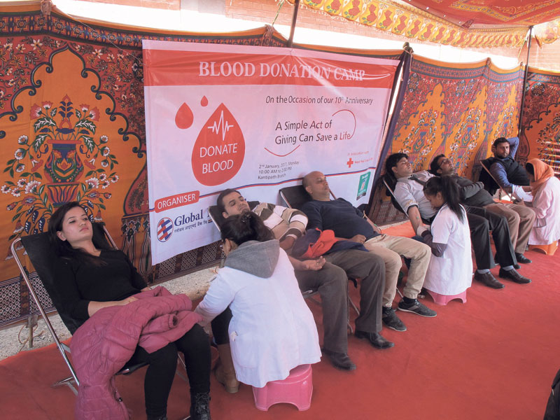 Global IME bank organizes blood donation