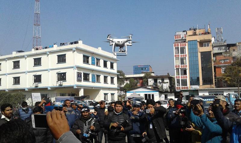 Traffic police to use drone camera to monitor Kathmandu's traffic