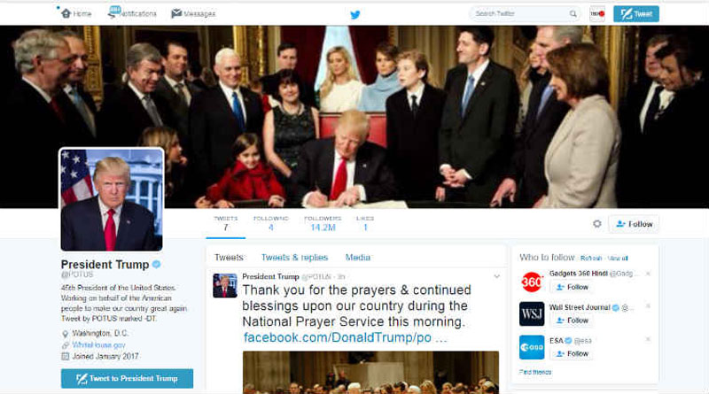 Twitter users forced to follow US President Donald Trump afterglitch