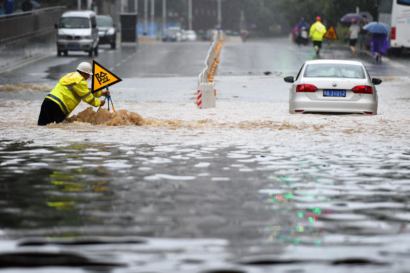 Heavy flooding in China leaves 181 dead or missing