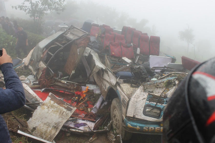 13 including ex-state minister killed in bus accident