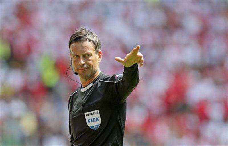 UEFA picks referee Clattenburg for France-Portugal final