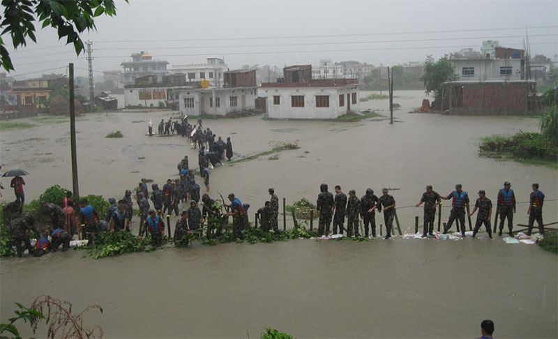 Flood hits Eastern Nepal