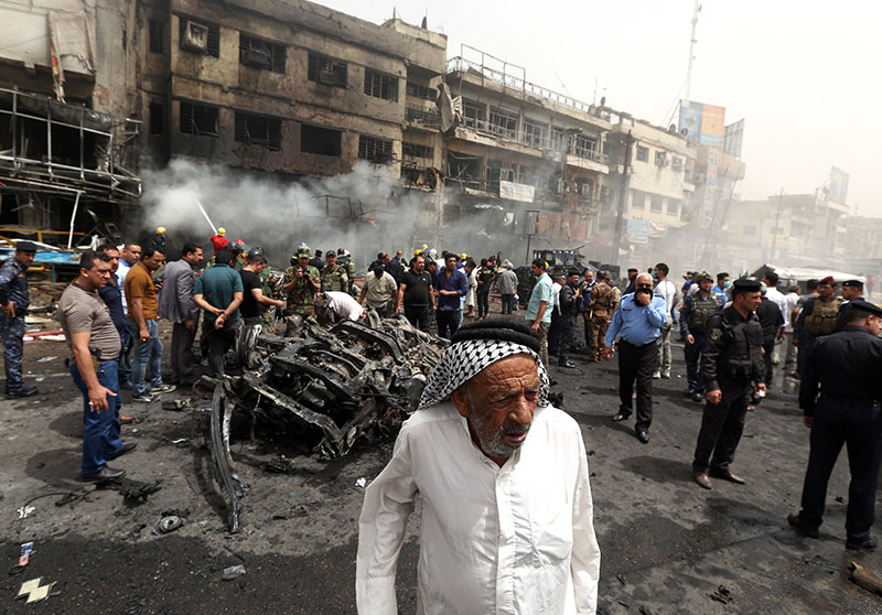 Iraqi officials: attack on Shiite shrine kills 37, wounds 62