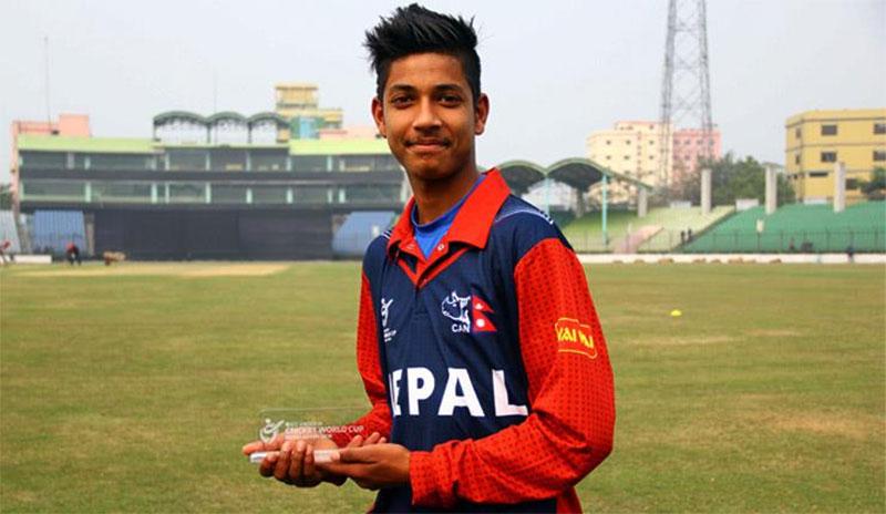 Sanima Bank sponsors cricketer Sandeep Lamichhane
