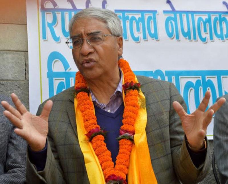 Govt moving on arbitrarily: Deuba