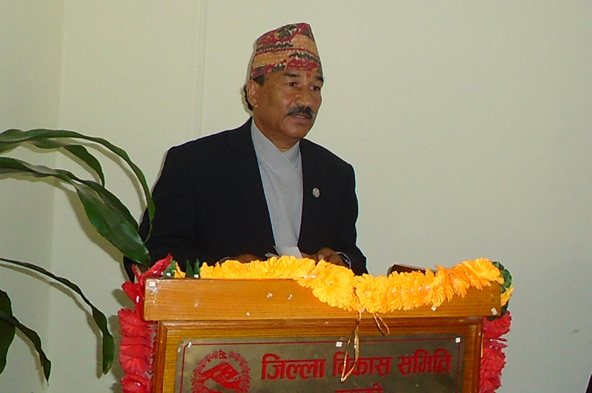 RPP CWC meeting; Chairman Thapa presents 6-page long report