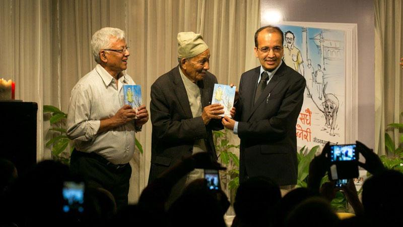 Dr Prasai's second book 'Sadhai Tanneri' launched