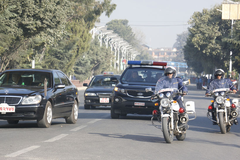 Mock motorcade conducted for Indian President's visit