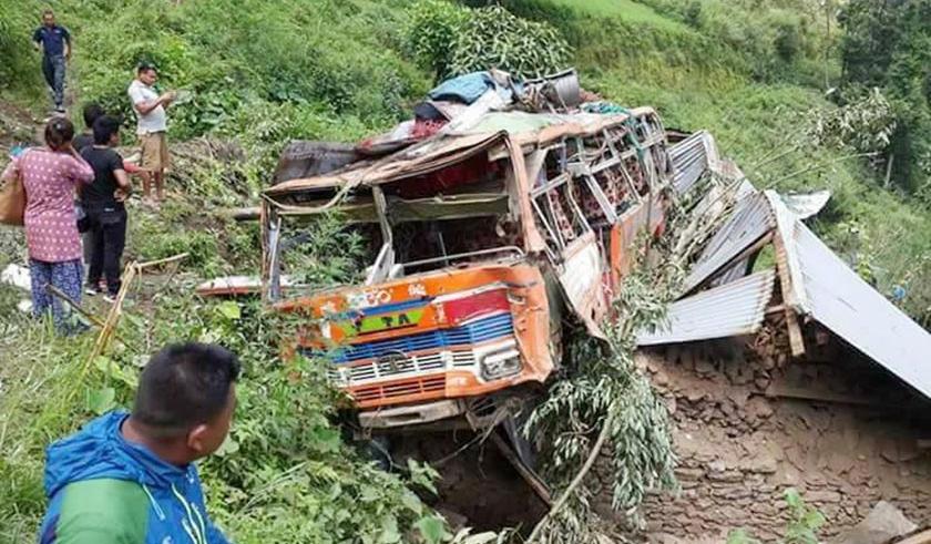 3 killed, 29 injured in Nuwakot bus accident