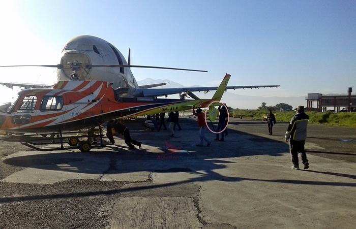 Shree Airlines chopper meets with accident at TIA