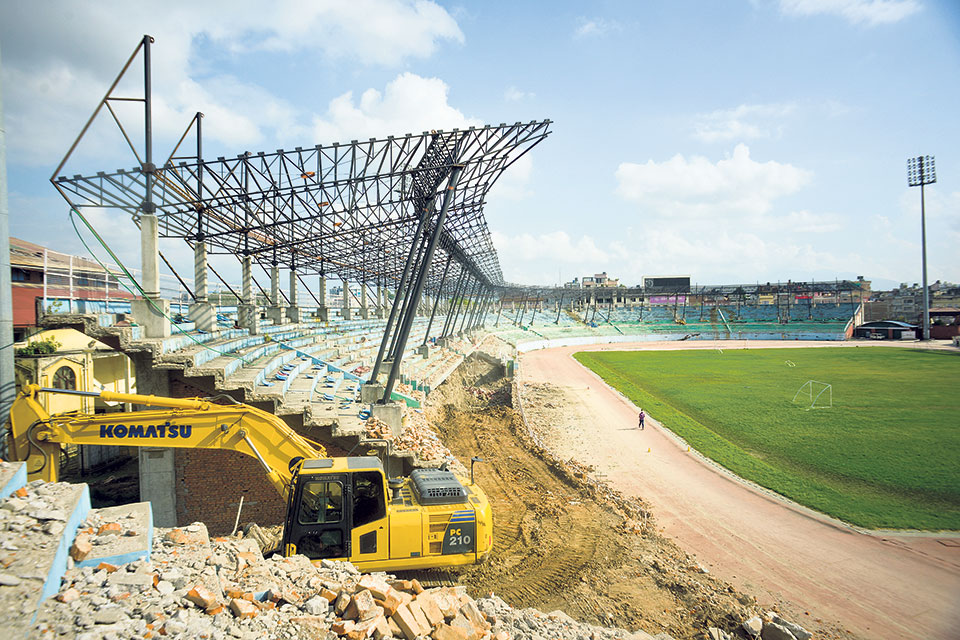 Renovation of Dasharath Stadium takes forever, hurts nation's football