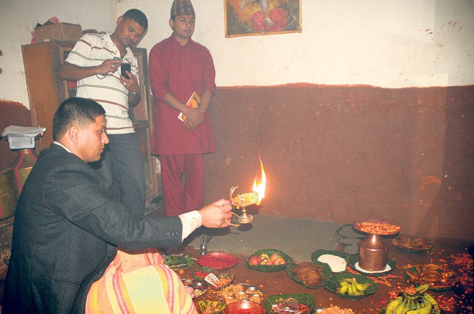 Ghatasthapana for luck and prosperity: