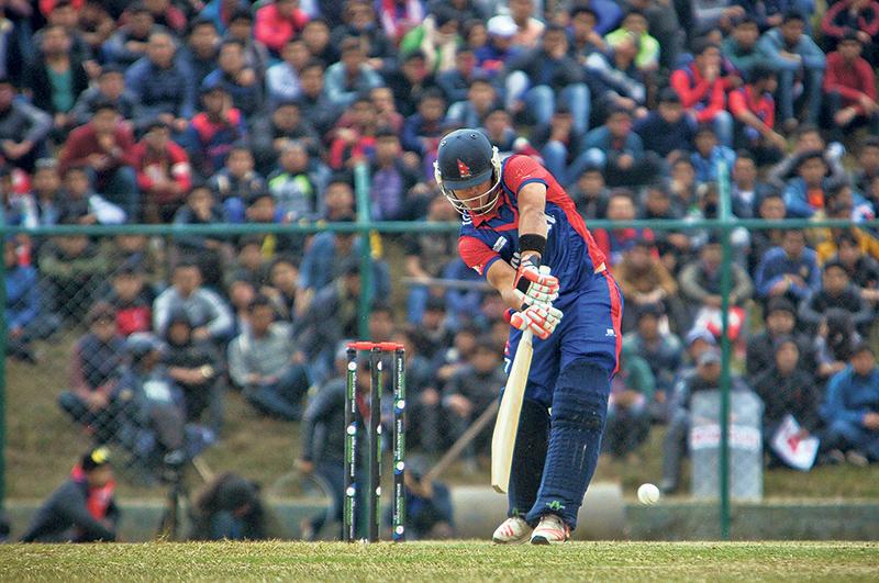 Batting for Nepal