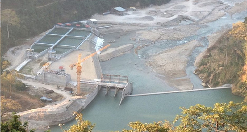Transmission test of Hewa Khola Hydel Project underway