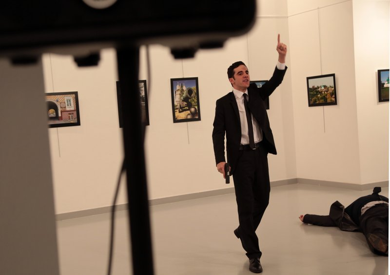 Invoking Syria, policeman kills Russian ambassador to Turkey