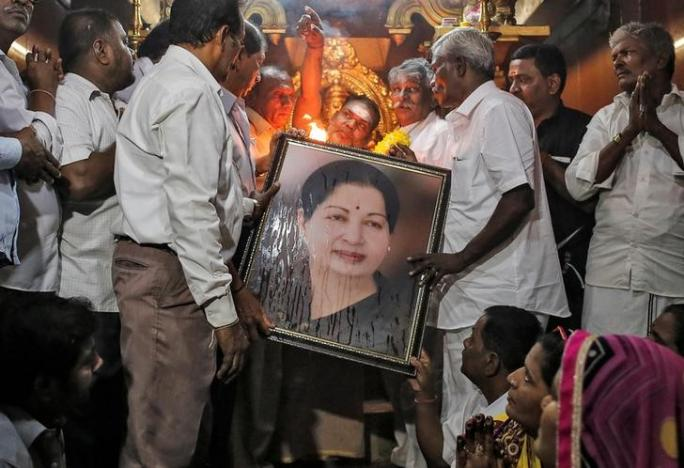 India's southern leader Jayalalithaa critical, supporters on edge