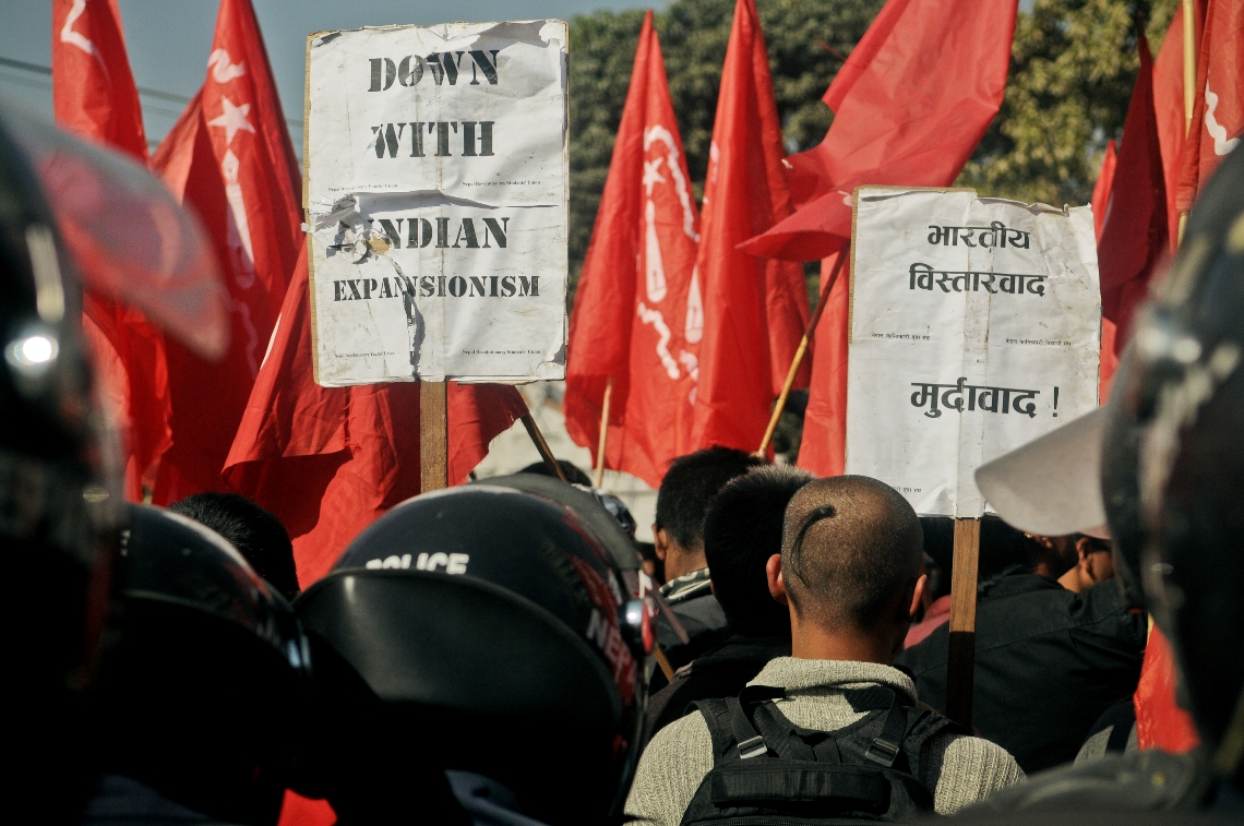 Students demonstrate in front of Indian Embassy (photo feature)