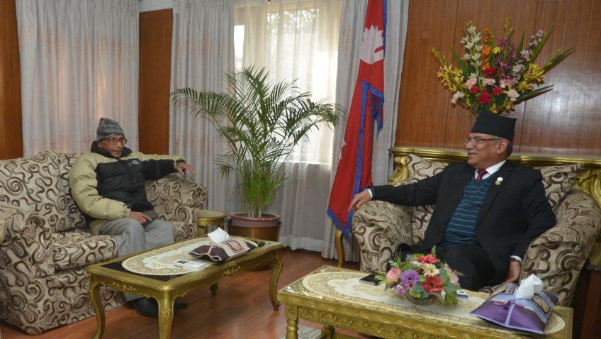 PM Dahal-Chair Baidya meet