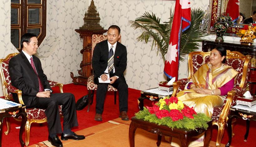 Chinese leaders call on Prez Bhandari