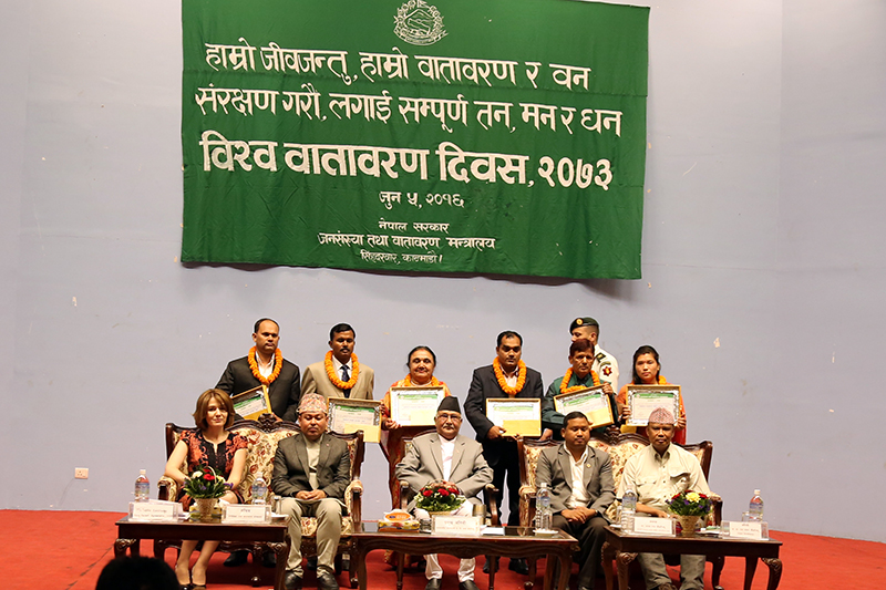 Environmental balance must be focused in development: PM Oli