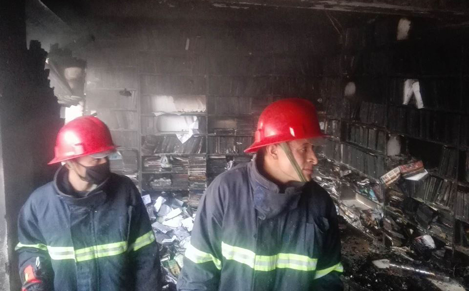 Bookstore and travel agency catch fire in Gongabu (Update with photos and video)