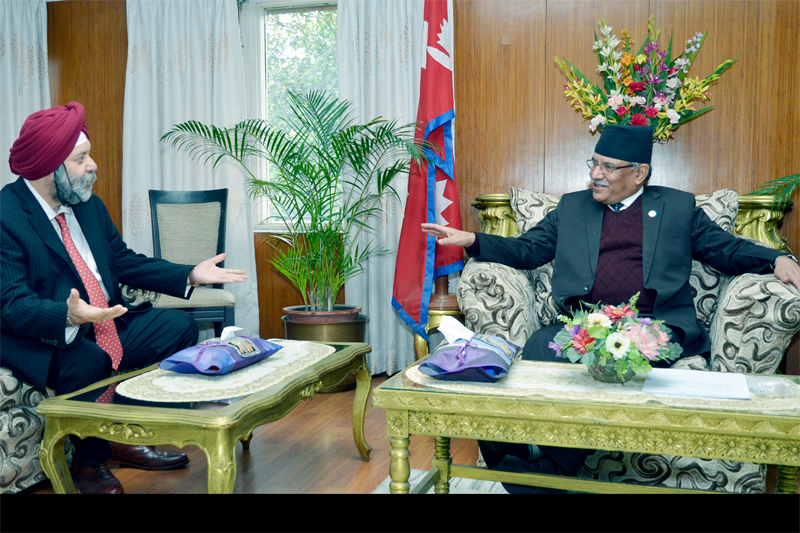 New Indian envoy pays courtesy call on PM