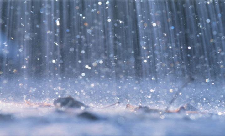 Low-pressure monsoon causing rainfall