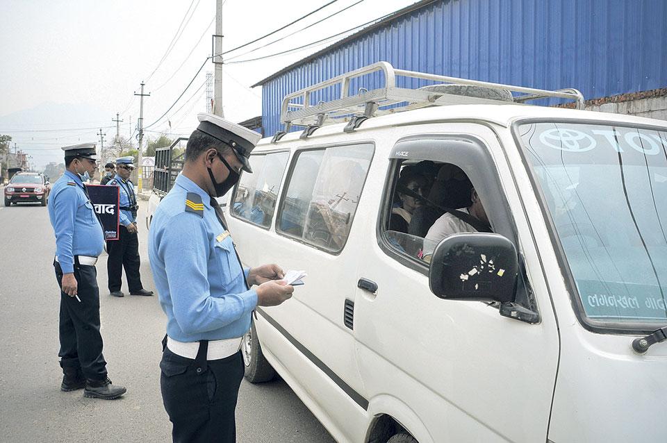 59 vehicles taken under control