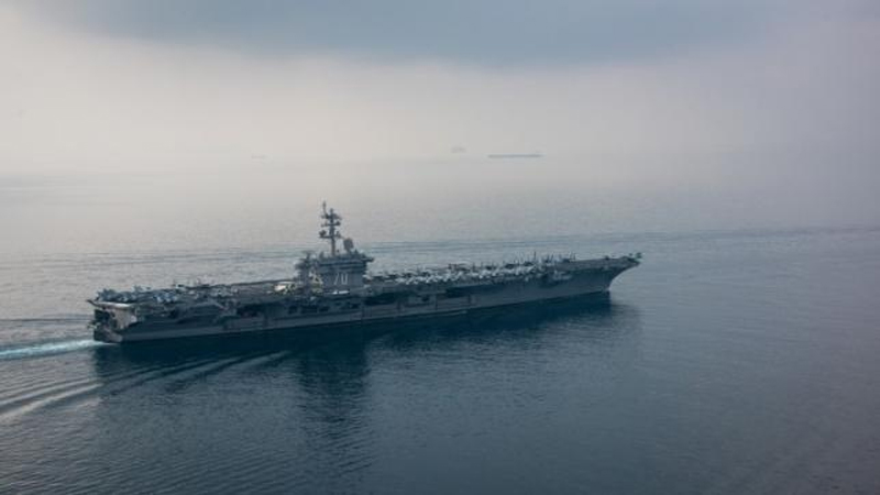 North Korea says it is ready to strike U.S. aircraft carrier