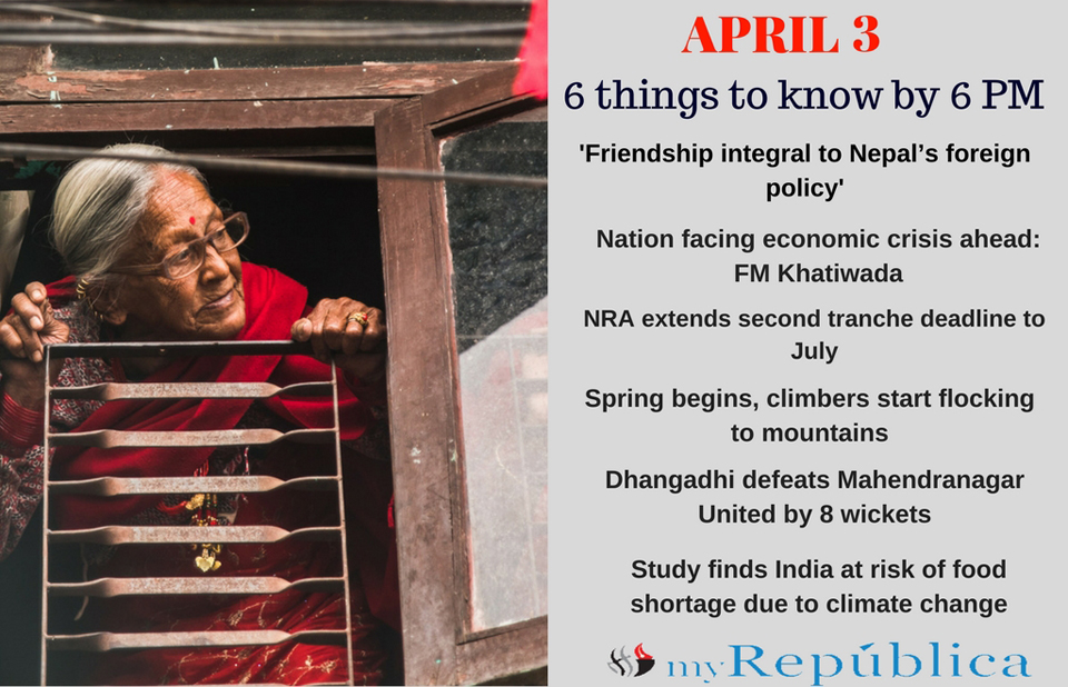 April 3: 6 things to know by 6 PM today