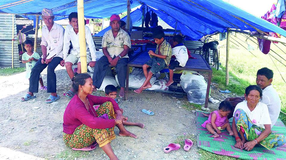 Itahari flood victims still in makeshift tents