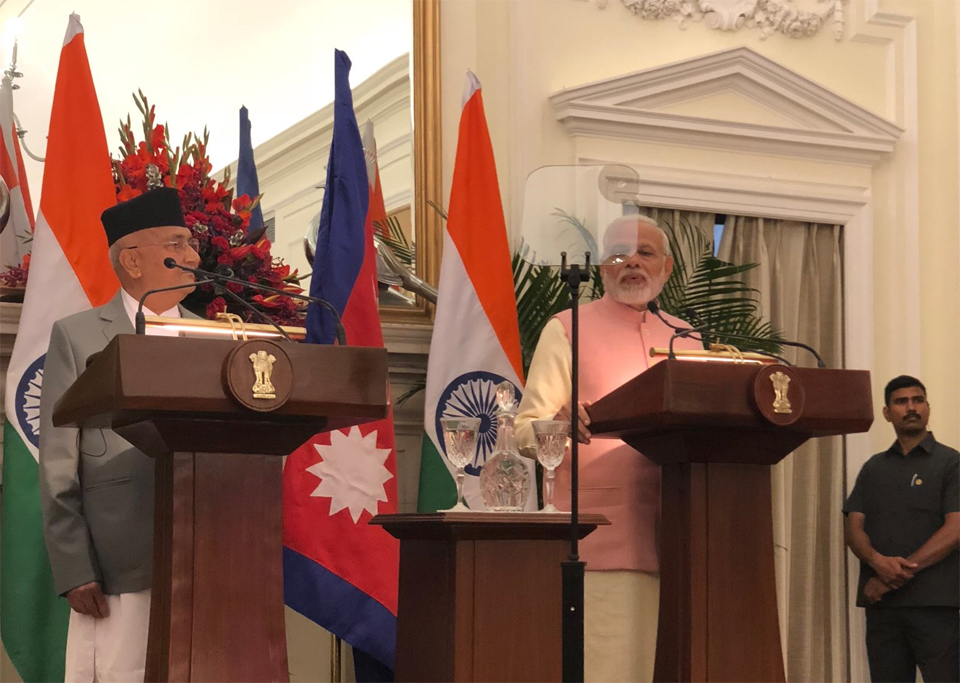 Modi assures inland water navigation, Oli calls 'intertwined destiny'