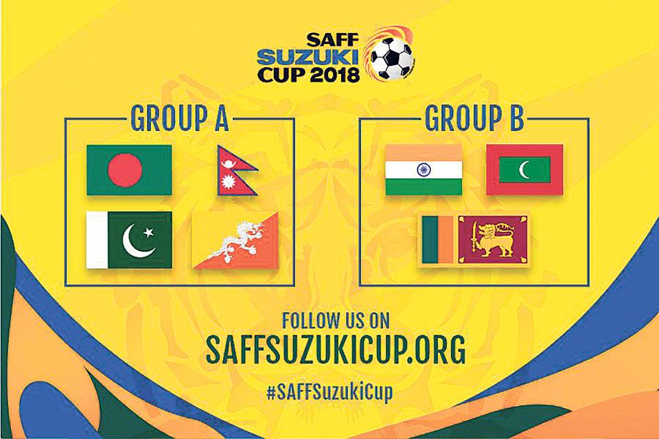 Nepal drawn along with B'desh, Pakistan, Bhutan in SAFF C'ship