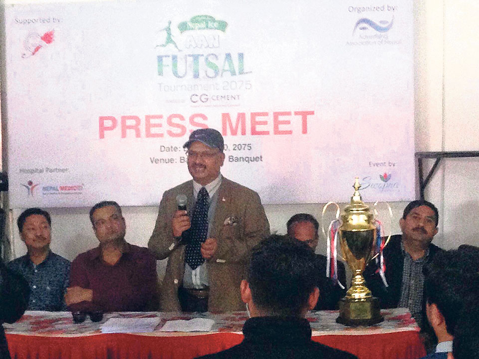 Nepal Ice AAN Futsal Tournament from Monday