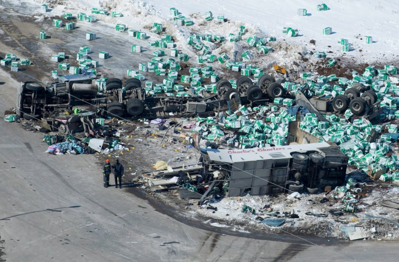 Canada mourns: 15 die when truck, hockey team bus collide