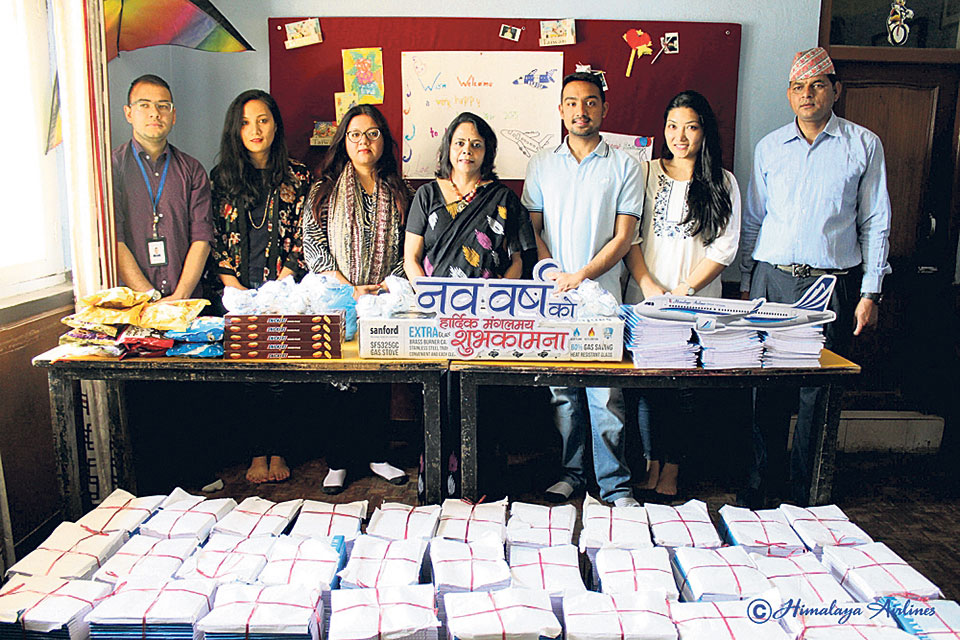 Himalaya Airlines grant for children's organization