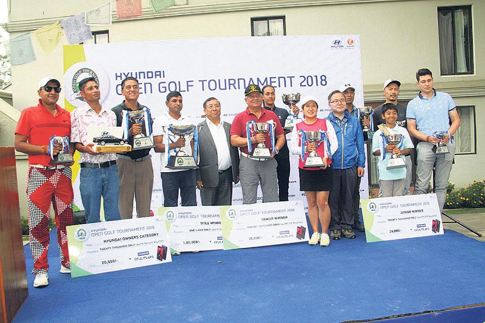 Rabindra Tiwari wins Hyundai Open Golf Tournament
