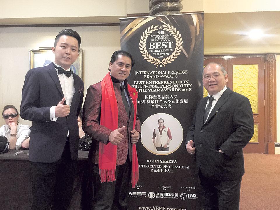Nepali choreographer honored at International Prestige Brand Award