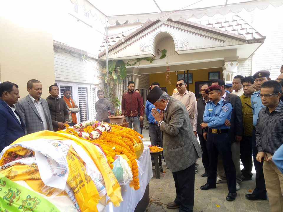 NC leader Khadka's last rites to be performed today