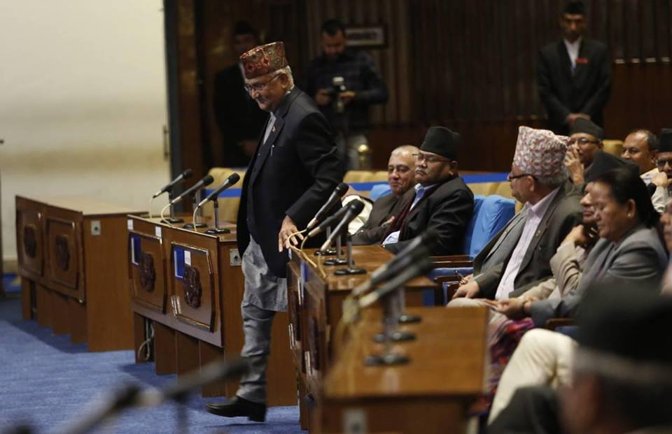 PM Oli stresses govt commitment to develop Nepal