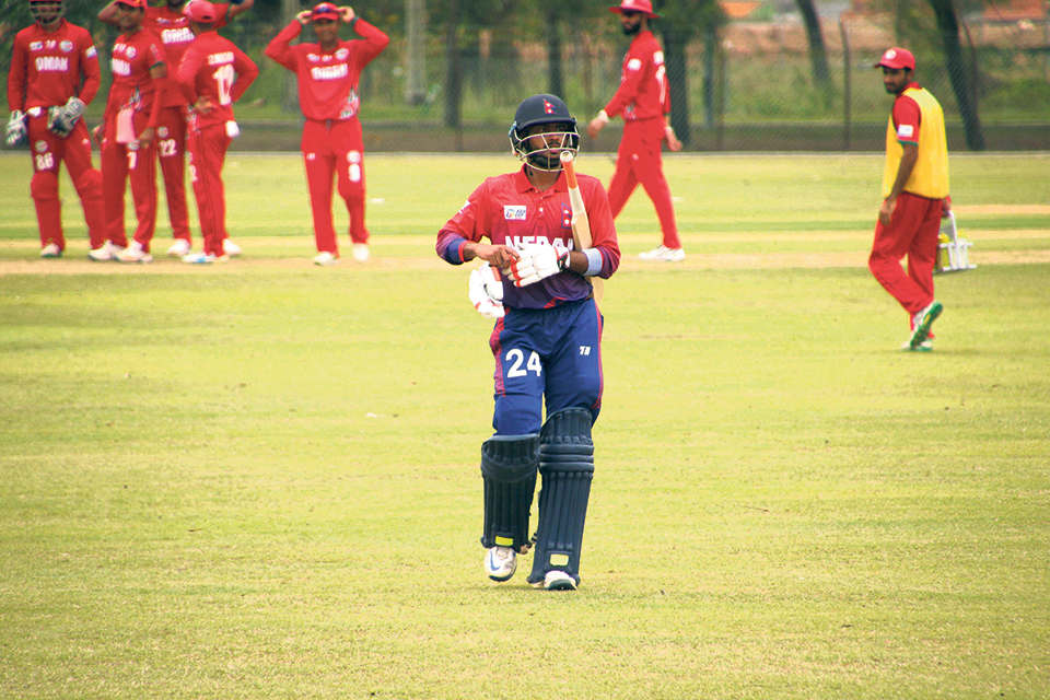 Nepal slumped to humbling defeat by Oman in Asia Cup Qualifiers opener